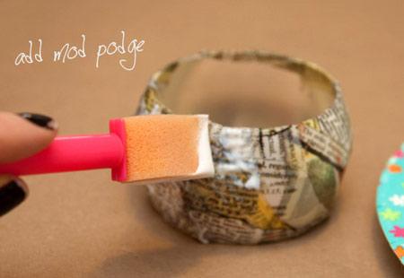 آموزش ساخت النگو با نوار چسب و روزنامه