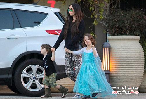 لباس دخترانه بر تن پسر بازیگر مشهور زن هالیوودی