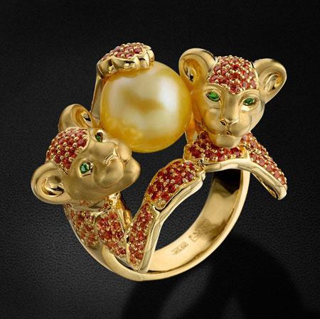 شیک ترین و متفاوت ترین مدل های انگشتر طلا با شکل حیوانات تصاویر بسیار زیبا