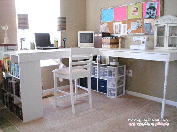 مدل دکوراسیون های اتاق کار و میزکار خانگی