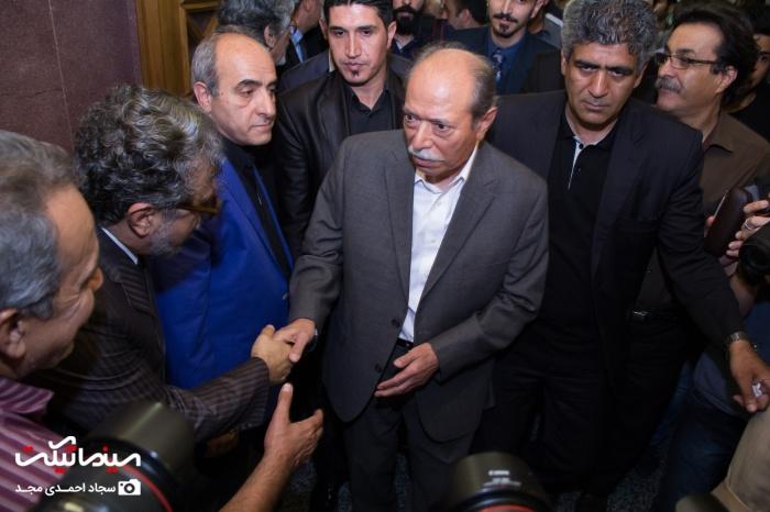 حضور سینماگران و بازیگران مرد مشهور در مراسم ختم داود رشیدی