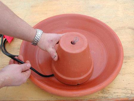 Как сделать к фонтану насос