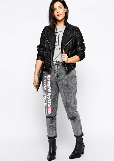 شلوار دمپا گشاد با مانتو 12 مدل مناسب از لباس مشکی زنانه سایز بزرگ +عکس