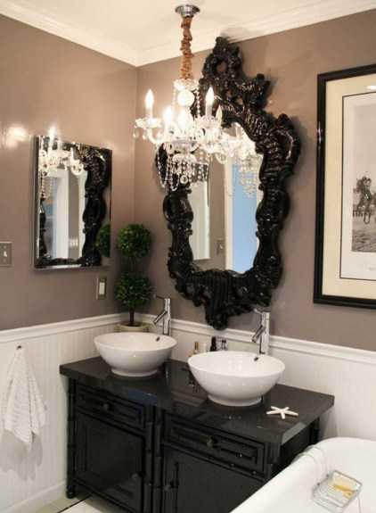 نورپردازی مدرن حمام و دستشویی بصورت خیلی زیبا