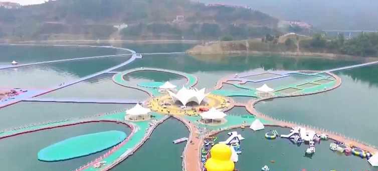 چین و این بار طولانی ترین مسیر شناور روی آب