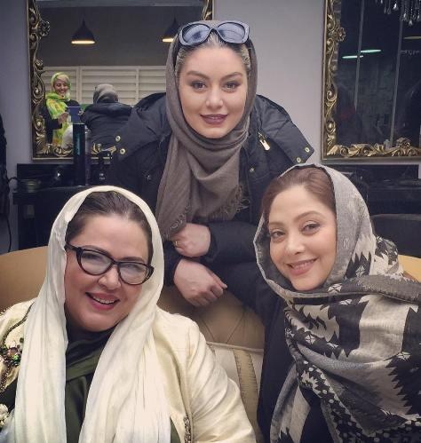 عکس سحر قریشی و بهاره رهنما در یک سالن زیبایی مریم سلطانی