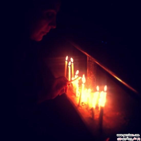 عکس شمع روشن