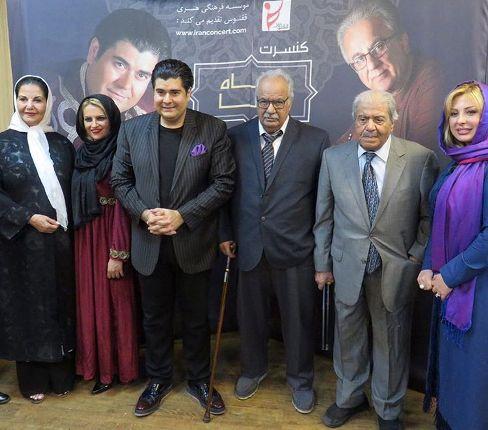 عکس یادگاری نیوشا ضیغمی و همسرش درکنار سالار عقیلی و همسرش