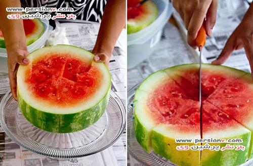 یک ایده زیبا و آسان برای قرار دادن هندوانه در سفره یلدا