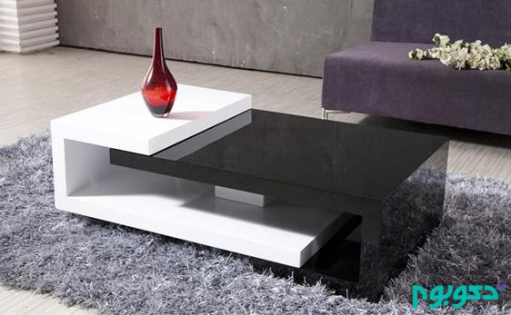میزهای چوبی مدرن و جاداری که مناسب فضاهای کوچک است