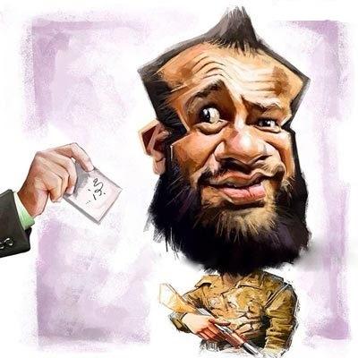 کاریکاتور امیر تتلو