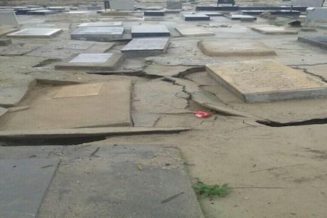 سیل قبرستان بوشهر