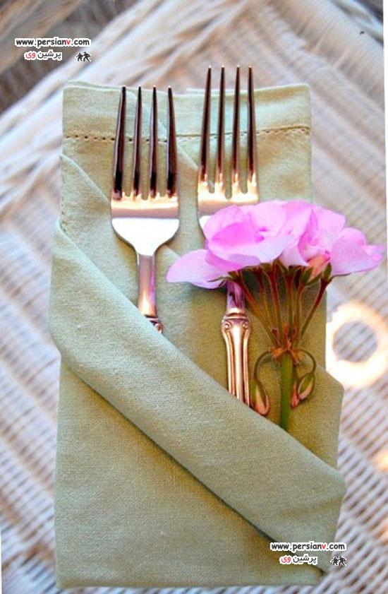 گل برای گلدان بلند روش های زیبا و مدرن تا کردن دستمال سفره +عکس