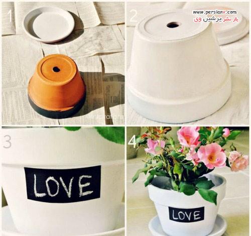 ایده های دوست داشتنی برای تزئین گلدان های ساده