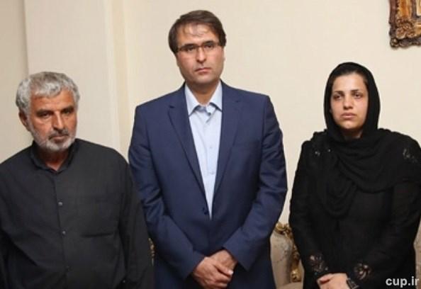 همسر هادی نوروزی در منزل ریحانه بهشتی