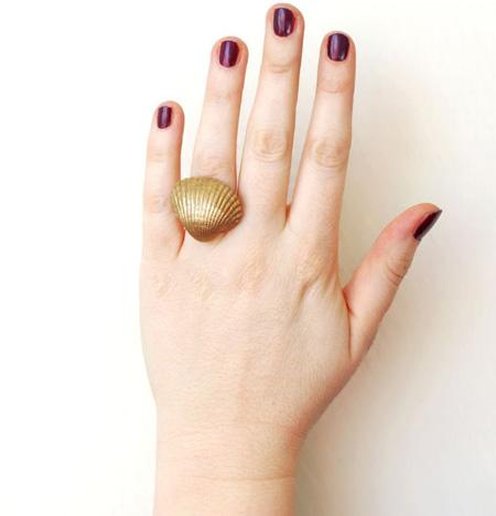 آموزش ساخت انگشتر صدفی طلایی