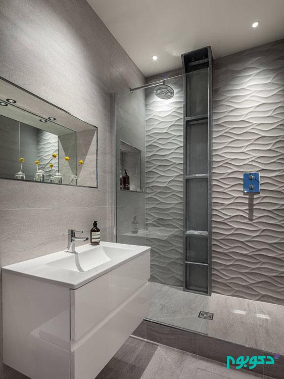 پانل های دیواری دی 3 بهترین گزینه برای دادن جلوه ای زیبا به حمام خانه است
