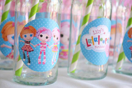 تزیین جشن تولد با تم عروسک های Lalaloopsy