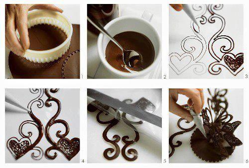 تزیینات کمتردیده شده شکلات تصاویر