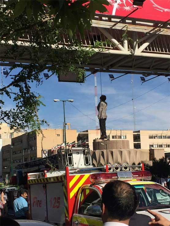 تجاوز به عابر در خيابان تهران