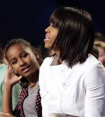 عکس: مدل موی جدید میشل اوباما