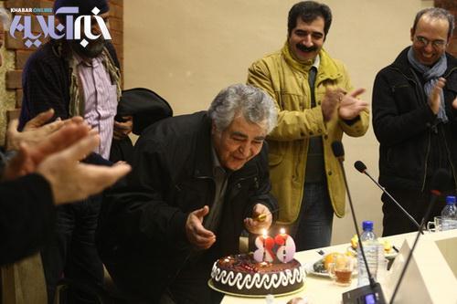 عکس کیک تولد یک بازیگر ۶۸ ساله