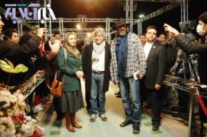 «هانیه توسلی» و «امیر جعفری» روی فرش سبز جشنواره + عکس