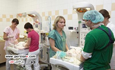 اندام زنی که پنج قلو باردار بود