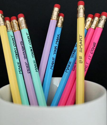 تزئین کردن مداد
