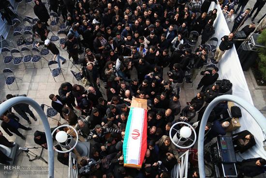 مراسم تشییع پیکر زنده یاد مرتضی پاشایی