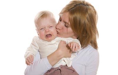 رفع گریه و بی تابی کودک