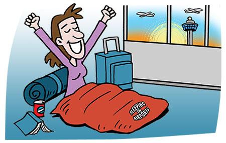 نکات کاربردی برای خوابیدن در فرودگاه که بهتر است بدانید