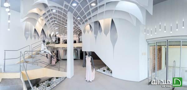 طراحی جالب و خلاقانه مرکز فروش لباس زنان در شهر همدان
