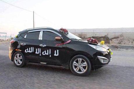 ماشین عروس از نوع داعشی!