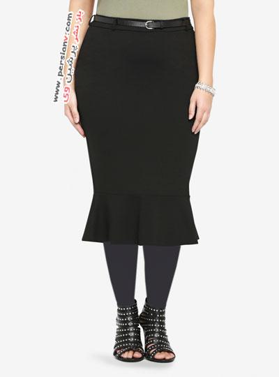 12 مدل مناسب از لباس مشکی زنانه سایز بزرگ