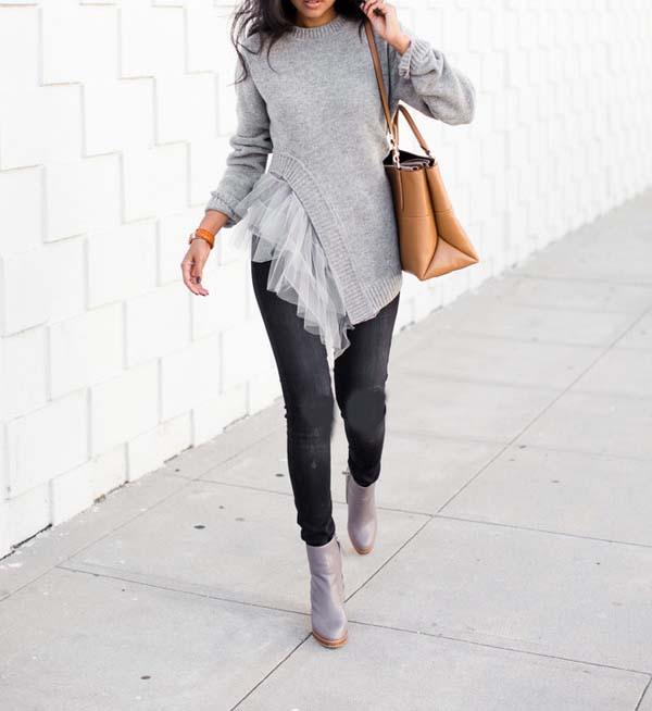 زیباترین ترکیب لباس شیک خاکستری رنگ برای شیک پوشی در پاییز