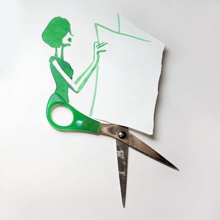نقاشی های ترکیبی و طنز با اشیا