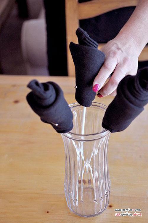 روش درست کردن دسته گل جورابی برای هدیه روز پدر