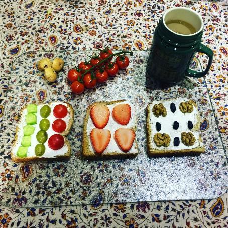 صبحانه اشتهابرانگیز سارا خوئینی ها در روز جمعه