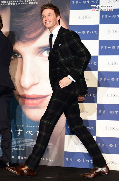 بازیگر مشهور و نامزد اسکار به همراه همسر باردارش در توکیو