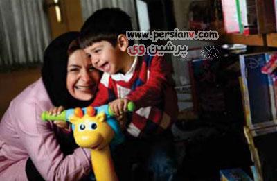 عکس های سیما تیرانداز و همسر و فرزندش ، بازیگر سریال دودکش