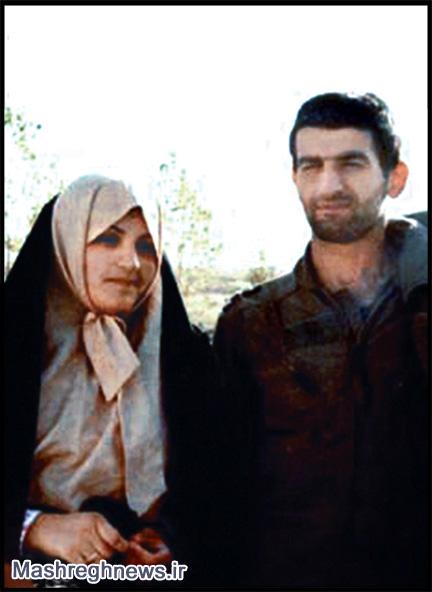 شهید بابایی و همسرش