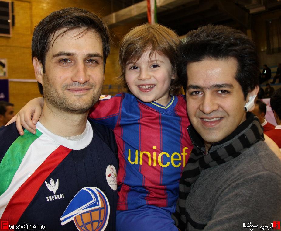 عکس دیدنی پویا امینی و پسرش به همراه خواننده معروف