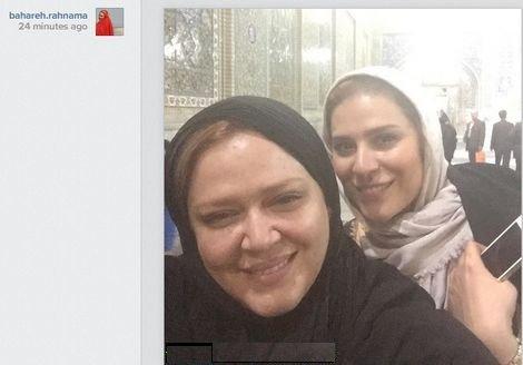 بهاره رهنما و سحر دولتشاهی در حرم امام رضا