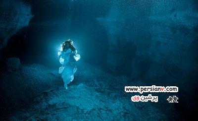 با بانوی طولانی ترین غار زیر دریایی آشنا شوید