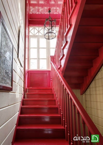 تزئین پله های داخل خانه با 10 نوع رنگ مختلف زیبا