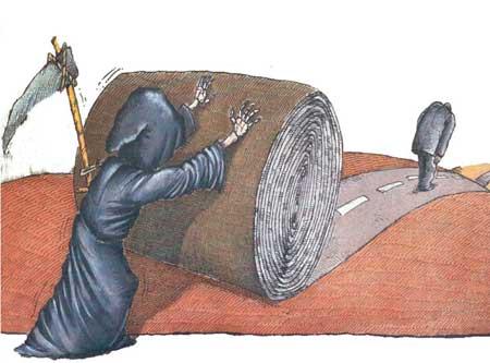 کاریکاتورهای جالب با موضوع مرگ برای شما