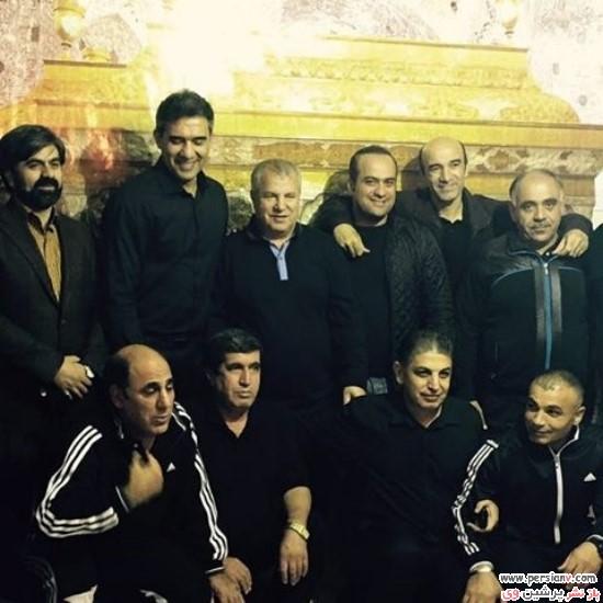 بازیگران و ورزشکاران و چهره های مشهور در مراسم عزاداری