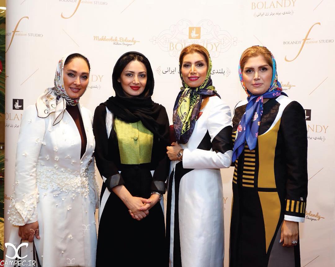 حضور تبلیغاتی الهام حمیدی و شیلا خداداد در مراسم افتتاحیه بوتیک بلندی