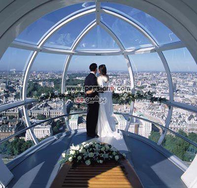 ازدواج در اوج آسمان سوار بر بلندتربن چرخ و فلک دنیا